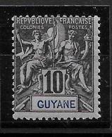GUYANE Colonie : N° 34 Neuf *  Frais (cote 15,00 €) - Guyane Française (1886-1949)