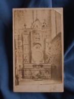 Photo CDV Sans Mention Photographe  Cathédrale Strasbourg  Horloge Astronomique  CA 1880 - L413 - Anciennes (Av. 1900)