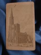 Photo CDV Sans Mention Photographe  Cathédrale Strasbourg  CA 1880 - L413 - Anciennes (Av. 1900)
