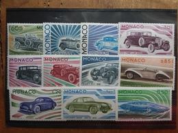 MONACO 1975 - Serie Automobili Nn. 1018/28 Nuovi ** + Spese Postali - Monaco