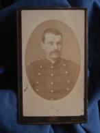 Photo CDV Ch. Gérard à Rennes - Militaire Clément Harel (Fougères) Regiment Artillerie L412 - Anciennes (Av. 1900)