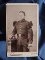 Photo CDV A. Lemarquant à Alençon - Militaire Soldat Du 103e D'infanterie, Insigne Bon Tireur L412 - Anciennes (Av. 1900)