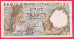 """100 Francs """"Sully"""" Du 04/12/1941.QB---XF/SUP+---Série R.26402 -AUCUN TROU D EPINGLE - 1871-1952 Anciens Francs Circulés Au XXème"""