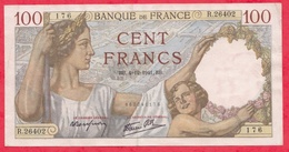 "100 Francs ""Sully"" Du 04/12/1941.QB---XF/SUP+---Série R.26402 -AUCUN TROU D EPINGLE - 1871-1952 Circulated During XXth"