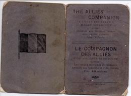 """-Petit Fascicule""""Le Compagnon Des Alliés""""-Vocabulaire De Poche De 16 Pages Format 10cm X 15cm - 1939-45"""