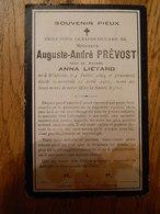 WILLERZIE :SOUVENIR DE DECE DE AUGUSTE ANDRE PREVOST EPOUX ANNA LIETARD 1864-1910 - Devotieprenten