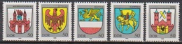 DDR 1985 MiNr.2934 - 2938 ** Postfr. Stadtwappen ( 8048 )günstige Verandkosten - Ongebruikt
