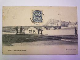 GIVET  (Ardennes)  :  Le PONT Et  POSTES   1904   XXX - Givet