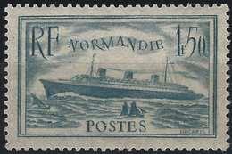Normandie Bleu Clair N°300**  Fraicheur Postale TTB Signé Calves - France