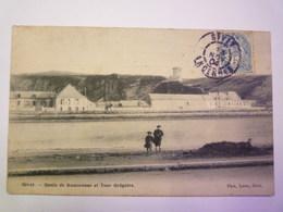 GIVET  (Ardennes)  :  Quais De Rancennes Et Tour Grégoire   1904   XXX - Givet