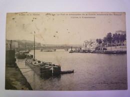 GIVET  (Ardennes)  :  Le Port Et Débarcadère De La Société Industrielle Des Métaux   1911   XXX - Givet
