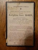 WILLERZIE :SOUVENIR DE DECE DE -JOSEPHINE SARA ROBIN EPOUSE GUSTAVE DETAL -1858-1908 - Images Religieuses