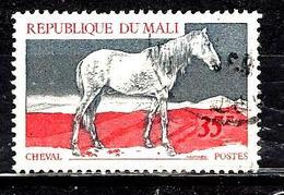 MALI 127° 35f Gris Et Rouge-carmin Animaux Cheval (10% De La Cote + 015) - Mali (1959-...)