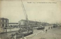 -depts Div.-ref-AE461- Bouches Du Rhône - Marseille - Pont Tournant De La Place D Afrique - Ponts - Bateaux - - Autres