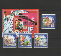 Guinea 1993 Football Soccer World Cup, Space Set Of 4 + S/s MNH - World Cup