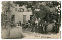 CPA 46 ALVIGNAC (Lot) - Allées Des Noyers HOTEL ET CAFE DE LA PROMENADE ** Lala , Figeac - France