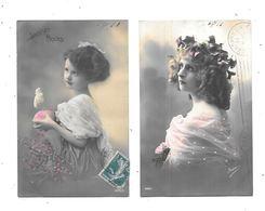 10967 - Lot De 2 CPA Petites Filles, Portrait - Portraits