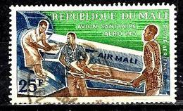 MALI Aer16° 25f Vert, Brun Et Bleu Compagnie Aérienne Air Mali Avion Sanitaire (10% De La Cote + 015) - Mali (1959-...)