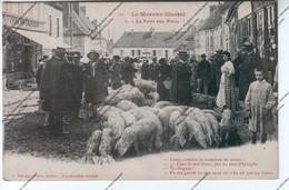 CPA Animée Le Morvan Illustré : Saulieu (21) - La Foire Au Porcs - Elevage