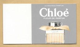 Carte Promo Contre Boite Perfume Card FLEUR DE PARFUM * CHLOE *** 1 EX - Cartes Parfumées