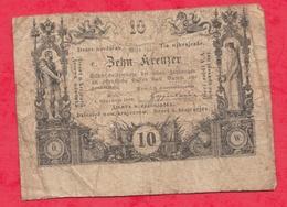 Autriche 10 Kreuzer  Du 01/11/1860----G/TB+ - Autriche