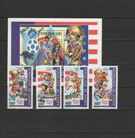 Guinea 1992 Football Soccer World Cup, Space Set Of 4 + S/s MNH - World Cup