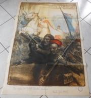 AFFICHE ORIGINAL - GUERRE 14 - 18 -  CHARLES FOUQUERAY 1917 - ARMEE D'AFRIQUE - 1914-18