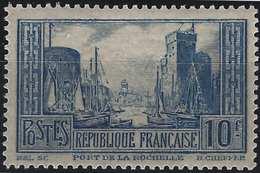 France Port De La Rochelle N°261** Type II Bleu Fraicheur Postale Signé Calves - France