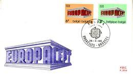 BELGIUM 1969  EUROPA CEPT FDC - Europa-CEPT