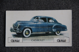 "Chromo, Chocolat CEMOI : Automobile  "" CHEVROLET "" - Chocolate"