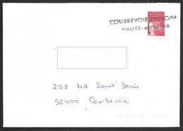 Griffe D'annulation  -  Courbevoie   Sur Marianne De Luquet - Marcophilie (Lettres)
