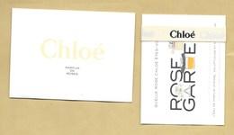 Carte Parfumée + Bracelet Ruban Perfume Ribbon PARFUM DE ROSES * CHLOE + Enveloppe *** 1 EX - Perfume Cards