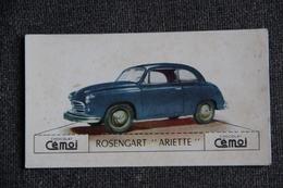 "Chromo, Chocolat CEMOI : Automobile  "" ROSENGART ARIETTE "" - Chocolate"