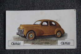 "Chromo, Chocolat CEMOI : Automobile  "" PEUGEOT 203 "" - Chocolate"
