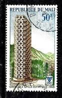 MALI Aer53° 50f Bleu, Vert Et Brun Jeux Olympique D'hiver à Grenoble Tour (10% De La Cote + 015) - Mali (1959-...)