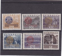 # E-9156 Austria 1931 Full Set Overprint MLH+ MNH Michel 518 - 23: Intl. Congress Rotary - Nuovi