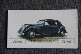 "Chromo, Chocolat CEMOI : Automobile  "" CITROEN 15 CV "" - Chocolat"