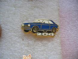 Pin's Peugeot 204 De Couleur Bleue - Peugeot