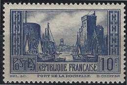 France Port De La Rochelle N°261** Type III Bleu Fraicheur Postale Signé Calves - France