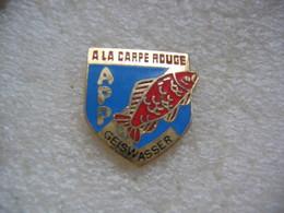 """Pin's APP De  La Commune De GEISWASSER (Dépt 68), Association De Pêche """"A La Carpe Rouge"""" - Associations"""