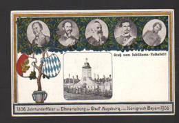 """1906 - 2 Pf. Privat-Ganzsache """"Einverleibung Der Stadt Augsburg"""" - Ungebraucht - Bavière"""