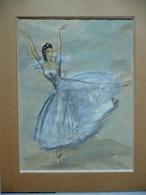 Jean Toth (1899-1972) - Danseuse Les Sylphides Opéra De Paris Garnier Cca 1970 - Gouaches