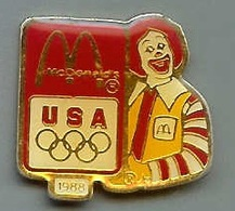 @@ Pin's Mac Donald's Clown JO USA 1988  (2.5x2.4) @@md04 - McDonald's