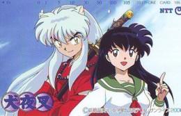 Télécarte Japon * 231-384 * MANGA * INUYASHA  (16.690)  COMIC * ANIME Japan PHONECARD * CINEMA * FILM - Comics