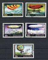 MONGOLIE: POSTE AERIENNE N° Yvert 85/89 Obli. - Mongolie