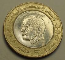 2002 - Algérie - Algeria - 1423 - 5 DINAR, 2è Anniv. Mort Habib Bourguiba - KM 444 - Algérie