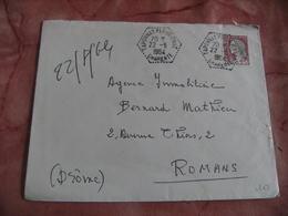 Taponnat Fleurignac Recette Auxiliaire Obliteration Sur Lettre - Marcophilie (Lettres)