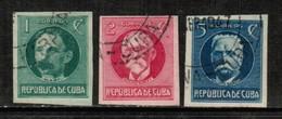 CUBA   Scott # 280-2 VF USED IMPERFORATE (Stamp Scan # 435) - Cuba