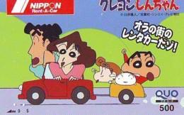 Télécarte Japon * MANGA *  RENT A CAR  (16.697)  COMIC * ANIME Japan PHONECARD * CINEMA * FILM - Comics