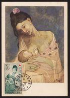 Laos 1958 Mi 83 Maximum Karte PICASSO – Maternity - Laos